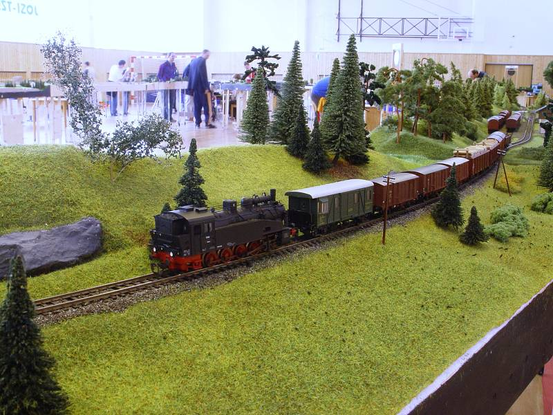 Manipulační vlak při manipulaci v Novém Oldřichově